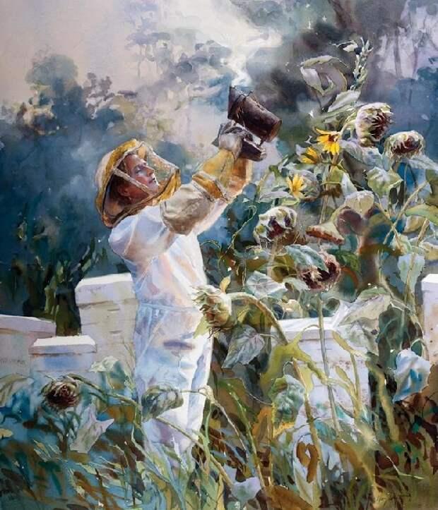 Вeekeeper. (Пчеловод.) Автор: Mary Whyte. | Фото: obiskusstve.com.
