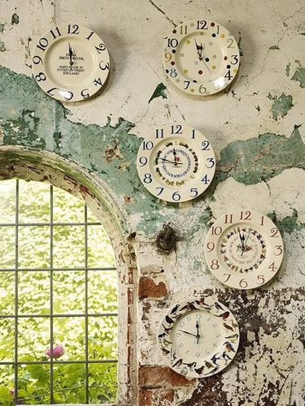 Часы из тарелок