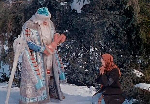 Кадр из фильма *Морозко*.