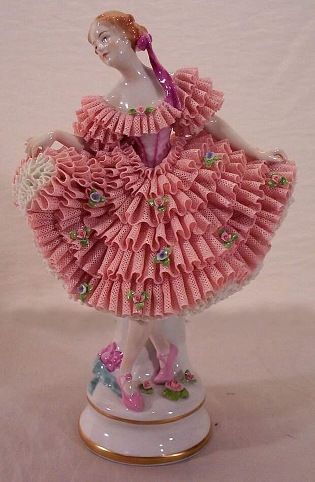Vintage Porcelain Ballerina Dolls | Vintage Dresden Porcelain and Lace Ballerina Figurine from yas1 on ...