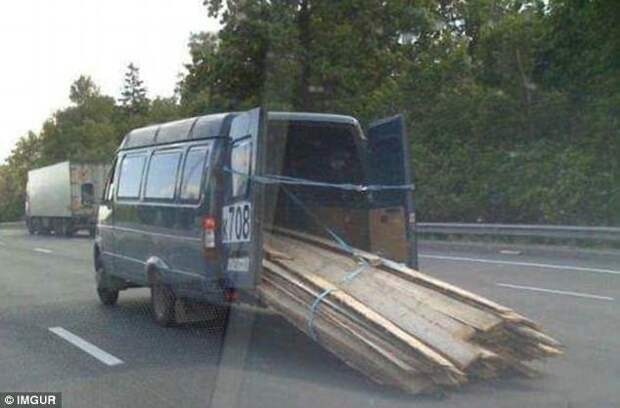 Транспортные перевозки, которые бросают вызов законам физики и здравому смыслу авто, прикол, факты, юмор