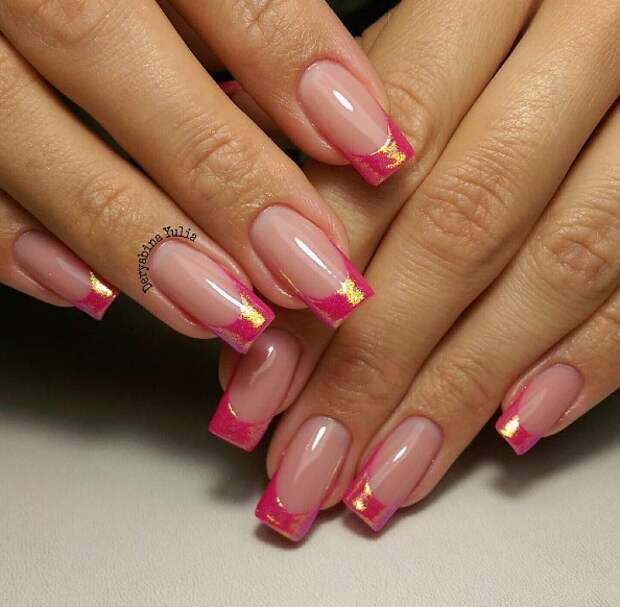 розовый френч фото 12
