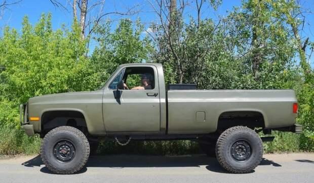 Дрожь земли: армейский Chevrolet K-30 с шестилитровым дизелем Chevrolet K-30, chevrolet, авто, автомобили, пикап