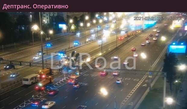 Движение по Волоколамскому тоннелю восстановлено после ночных дорожных работ