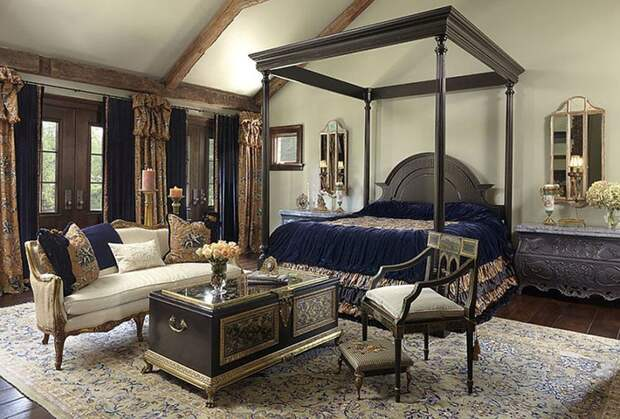 Роскошные спальни в викторианском стиле