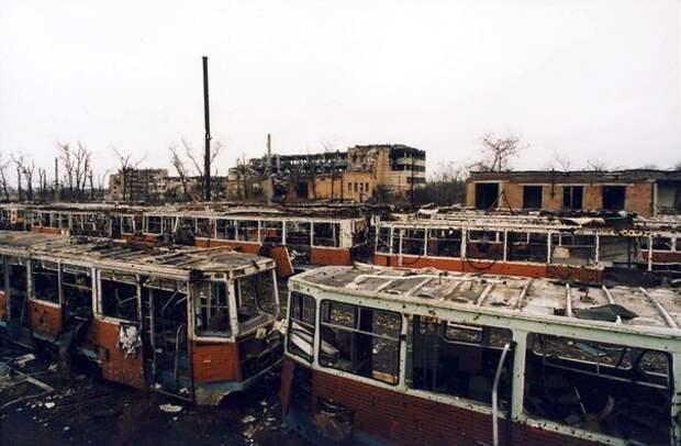 Трамваи в Грозном.