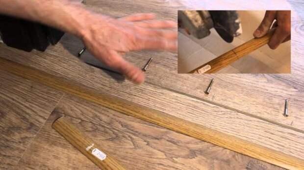 Как закрепить порожек на ламинат, чтобы он не стучал и не отрывался