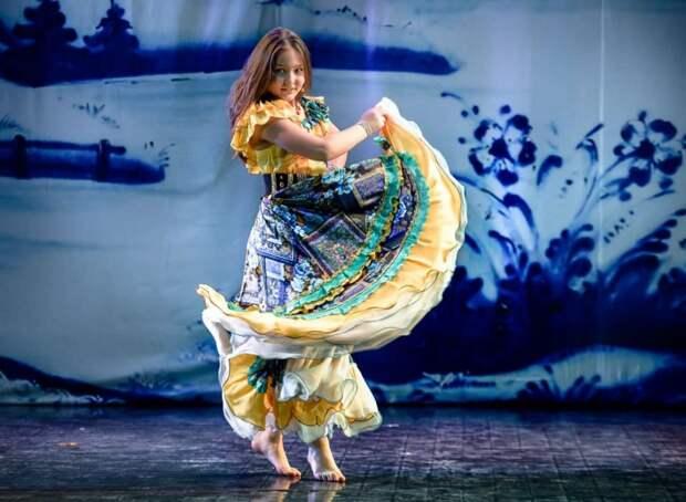Две золотые медали по цыганским танцам завоевала десятилетняя девочка из Северного Тушина