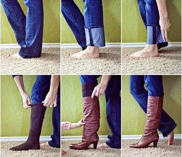 Заправить джинсы в сапоги и остаться модной: как сочетают брюки и обувь в 2019-20 гг?