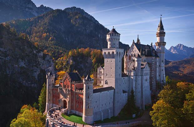 Сказочный замок в Баварии.