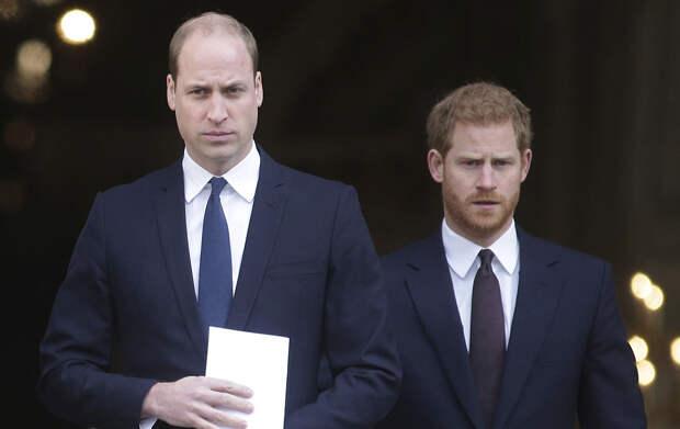 Принцы Гарри и Уильям разговор на похоронах принца Филиппа