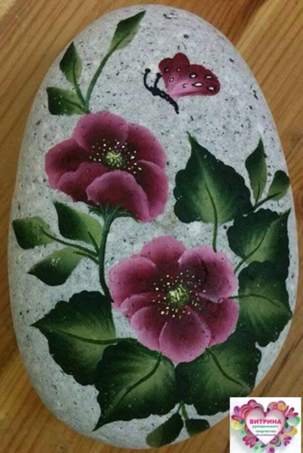 Рисунки на камнях. Удивительно красиво получилось!