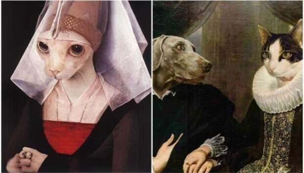 35 шедевров живописи, на которых дизайнеры заменили людей на животных