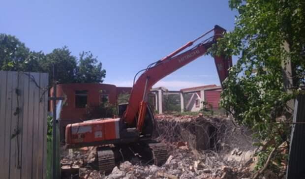 Еще 7 аварийных аварийных домов будут снесены впоселке Уралец под Тагилом
