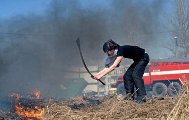 Россиян предупредили о штрафах за пал сухой травы