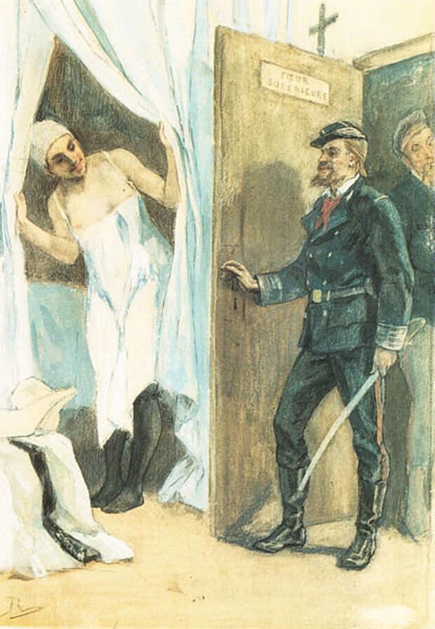 """Фелисьен Ропс. """"Обыск"""". 1880-е"""