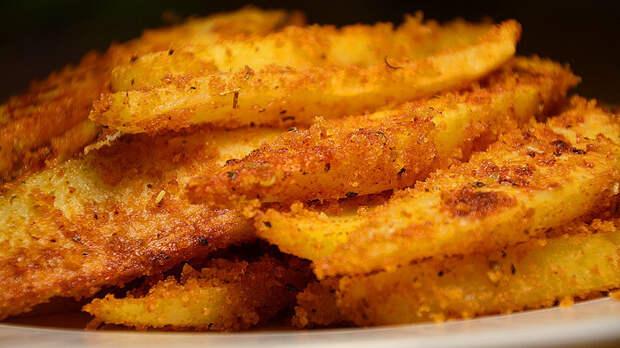 Картофель в сухарях, запеченный в духовке Кулинария, еда, картофель в духовке, картофель с корочкой, рецепт, видео рецепт, видео, длиннопост
