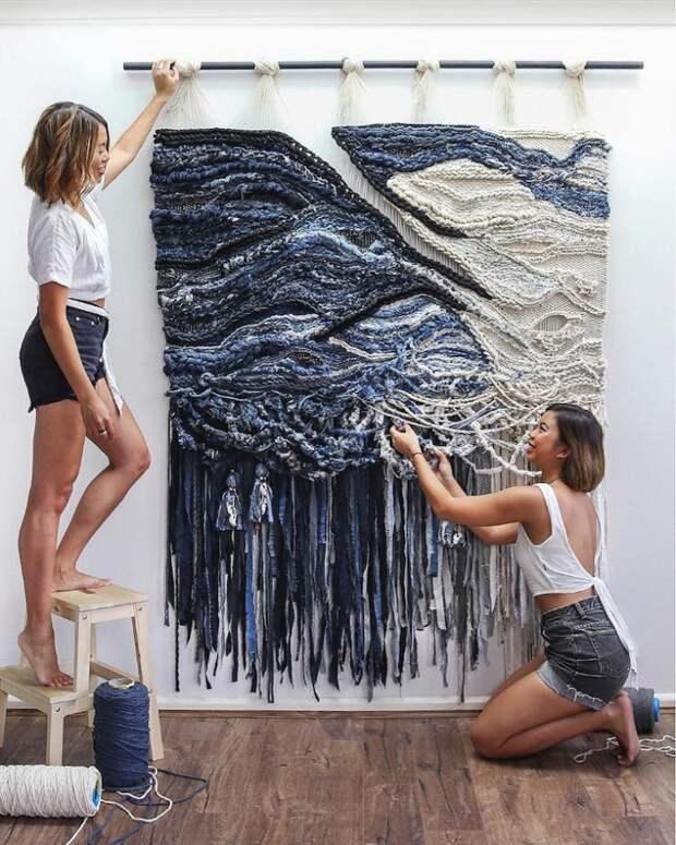 Настенные панно от сестер Lauren and Kass Hernandez , вдохновленными австралийскими пейзажами