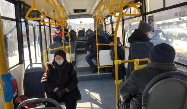Ростовчане неперестают игнорировать масочный режим вавтобусах