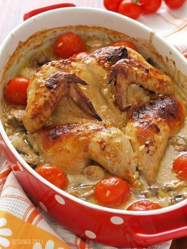 Курица маринованная в пиве с горчицей