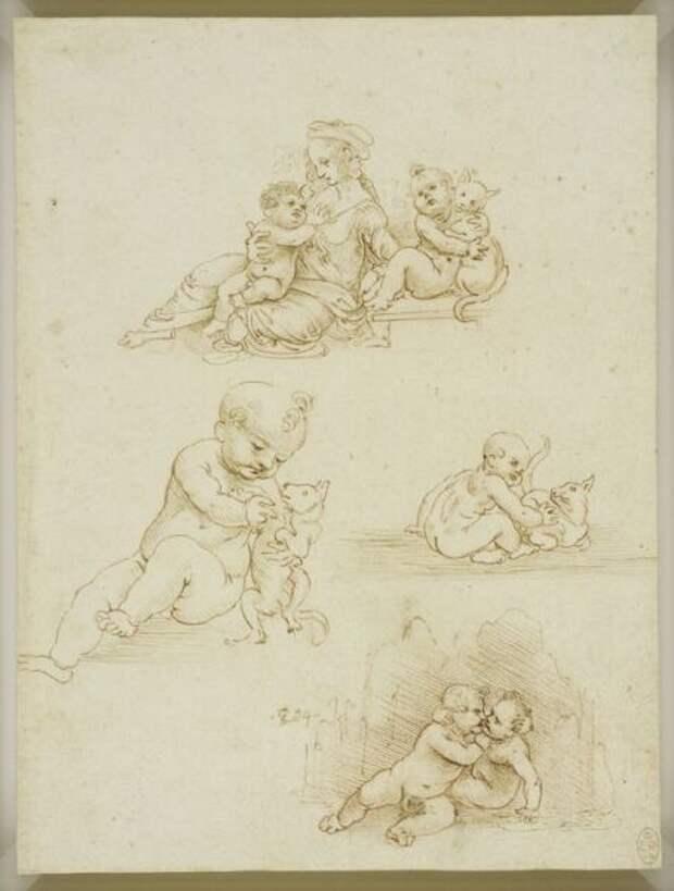 Леонардо да Винчи, эскизы