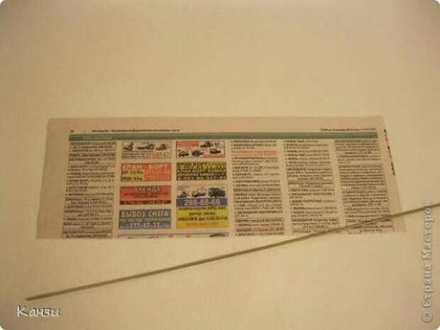 Корзинки из газет с вышивкой лентами. Мастер-класс