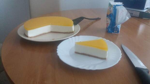 Холодный чизкейк с манго десерт, еда, рецепты, чизкейк