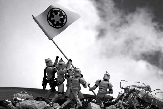 Культовые фото в виде ремейков с имперскими штурмовиками