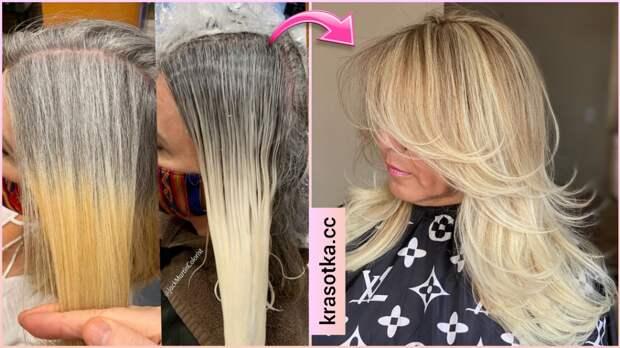 Старейте с достоинством! 5 способов окрашивания седых волос!