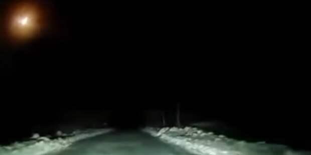 Взрыв метеорита над Архангельской областью попал на видео