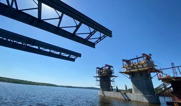 Строительство моста через Нижнетагильский пруд идет с опережением графика