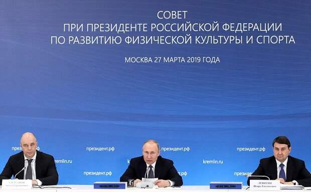 Путин выводит российский спорт на новый уровень