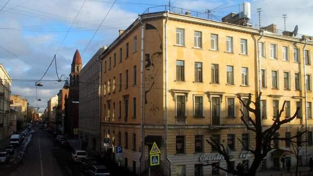 Портрет Хармса на фасаде дома на улице Маяковского закрасят по решению суда