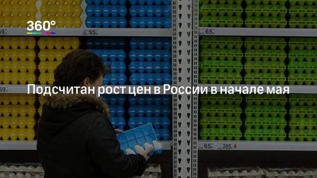 Подсчитан рост цен в России в начале мая