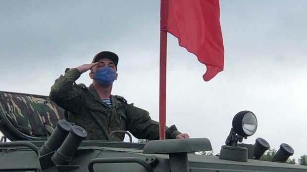 Первую репетицию парада Победы провели в центре Владивостока