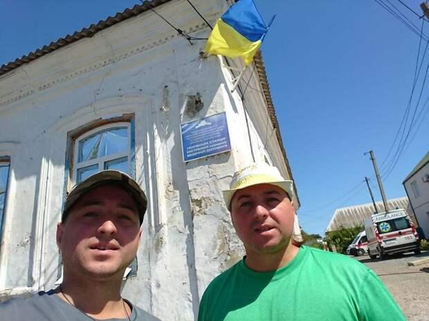 На границе с Крымом местные отлупили приезжих бандеровцев