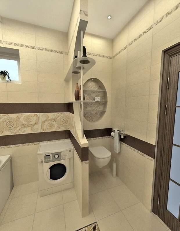 Умные решения для маленьких ванных комнат