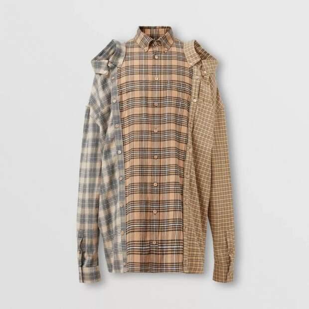 мужская рубашка из кусков пэчворк