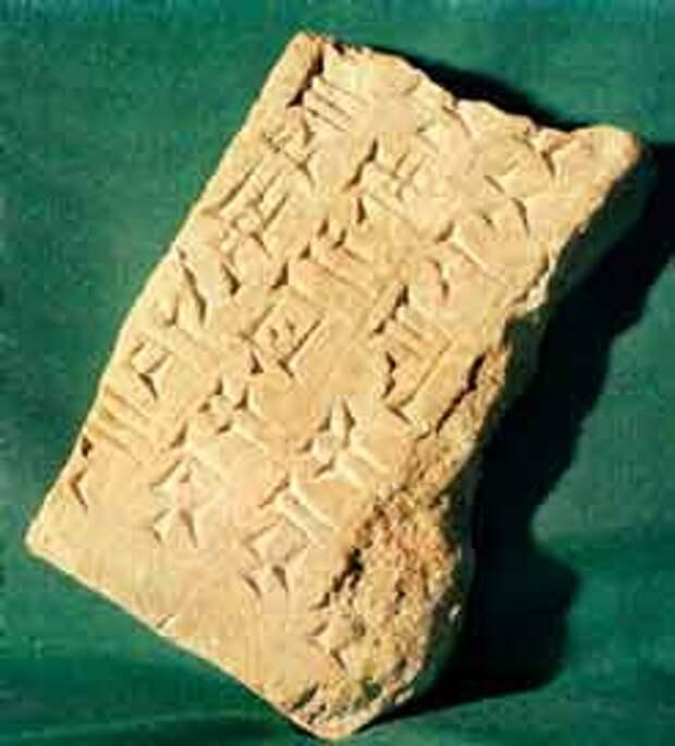 Ассиро-вавилонское письмо - образец клинописи