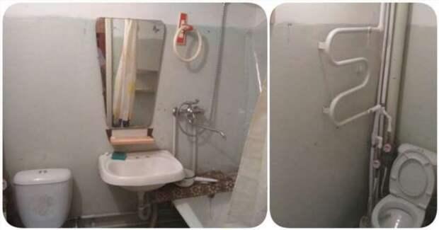 Недорогой ремонт малогабаритного совмещенного санузла своими руками (5 фото)