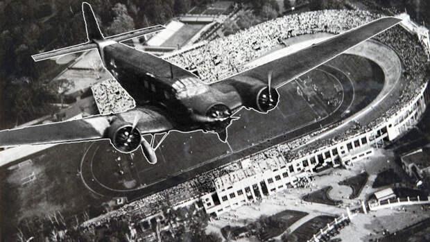 """80 лет назад немецкий Junkers 52 совершил посадку у стадиона """"Динамо"""""""
