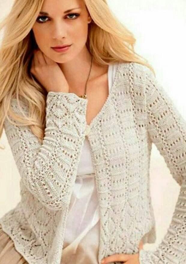 Узоры спицами для жакета и пуловера