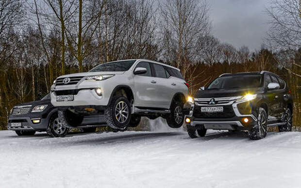 Toyota Fortuner, Mitsubishi Pajero Sport, Kia Mohave  — супертест