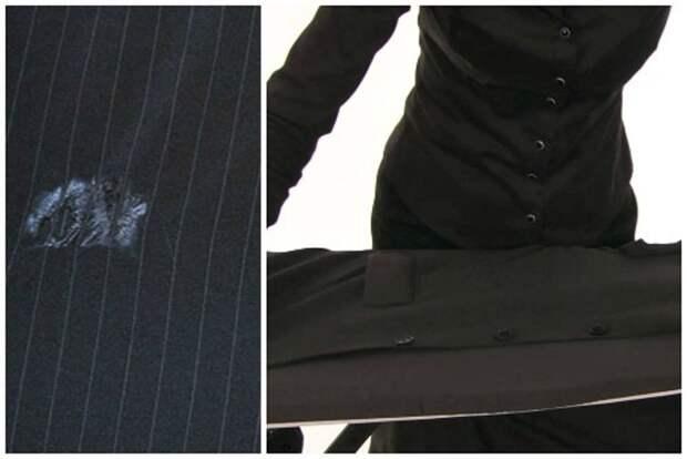 Способы устранения пятен на брюках