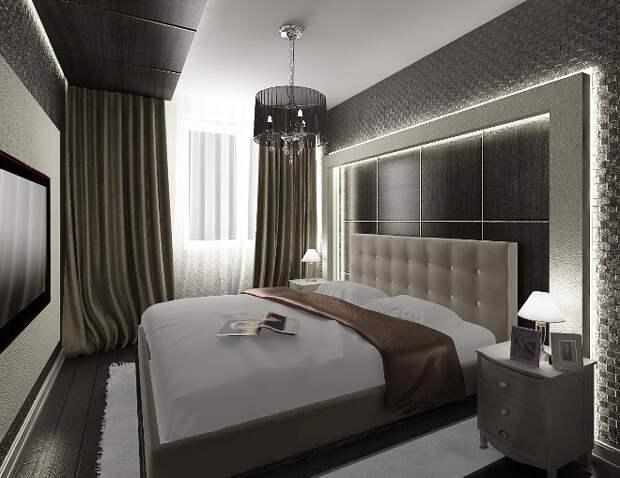 Дизайн узкой спальни: особенности планировки (85 фото)