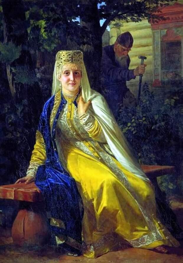 Н.В.Неврев Василиса Мелентьевна и Иван Грозный 1880