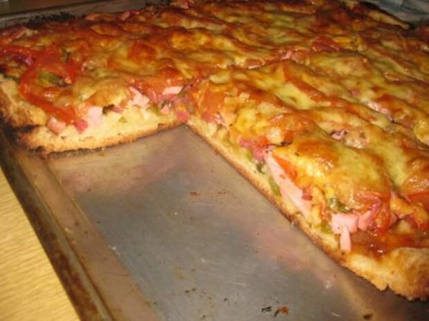 Рецепт вкуснейшей заливной пиццы, которая накормит всю семью