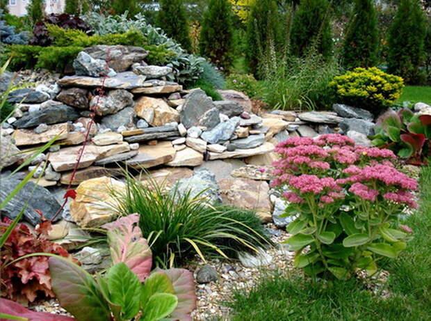 Альпийские горки в саду