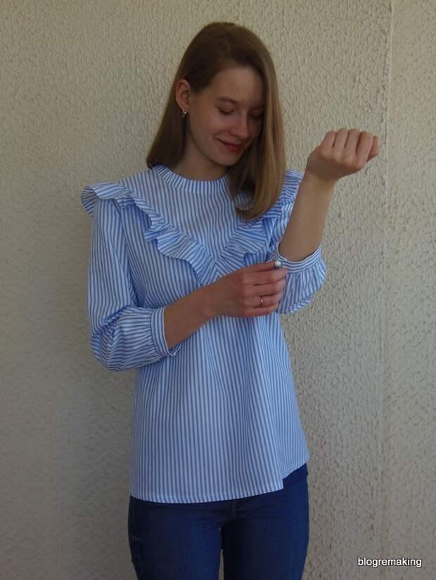 Технология пошива рубашки с V-образной кокеткой