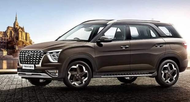 Hyundai открыл прием заказов на семиместную кроссовер Alcazar в Индии